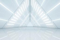 Abstract Triangle Spaceship corridor